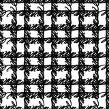 Vector o teste padrão sem emenda com listras e cursos da escova Cor preta no fundo branco Textura pintado à mão da manta tinta ilustração stock