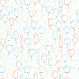 Vector o teste padrão sem emenda com os balões de formas diferentes Fotografia de Stock Royalty Free