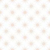 Vector o teste padrão sem emenda de plantas cor-de-rosa estilizados em um fundo branco Fotografia de Stock Royalty Free
