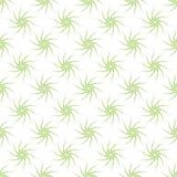 Vector o teste padrão sem emenda de plantas verdes estilizados em um fundo branco Imagem de Stock Royalty Free