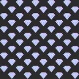 Vector o teste padrão sem emenda do diamante do inclinação no fundo escuro Fotos de Stock Royalty Free