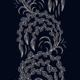 Vector o teste padrão sem emenda do scrollwork com ramos de árvore estilizados f ilustração royalty free
