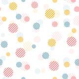 Vector o teste padrão sem emenda do vintage delicado com pontos coloridos Ilustração Royalty Free