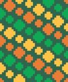Vector o teste padrão sem emenda dos elementos do pixel diagonalmente Imagens de Stock