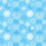 Vector o teste padrão sem emenda dos flocos de neve da ilustração, cristais simétricos da neve dos vários projetos, feitos o foro Fotografia de Stock Royalty Free