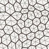 Vector o teste padrão sem emenda em uma grade dos polígono com Imagem de Stock