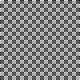 Vector o teste padrão sem emenda Formas da estrela na textura dos quadrados Fundo preto e branco Projeto festivo monocromático ilustração royalty free