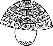 Vector o teste padrão sem emenda Garatuja do cogumelo Imagens de Stock Royalty Free