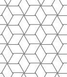 Vector o teste padrão sem emenda Linha moderna fundo geométrico Imagem de Stock Royalty Free