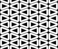 Vector o teste padrão sem emenda moderno da geometria, sumário preto e branco Fotos de Stock Royalty Free
