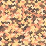 Vector o teste padrão sem emenda moderno do cubo da geometria, geométrico abstrato Imagem de Stock Royalty Free