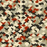 Vector o teste padrão sem emenda moderno do cubo da geometria, geométrico abstrato Fotos de Stock Royalty Free