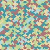 Vector o teste padrão sem emenda moderno do cubo da geometria, geométrico abstrato Imagens de Stock