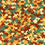 Vector o teste padrão sem emenda moderno do cubo da geometria, geométrico abstrato Foto de Stock