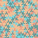 Vector o teste padrão sem emenda moderno do tessellation da geometria, abstrato Imagem de Stock
