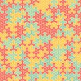 Vector o teste padrão sem emenda moderno do tessellation da geometria, abstrato Fotos de Stock Royalty Free