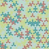 Vector o teste padrão sem emenda moderno do tessellation da geometria, abstrato Fotos de Stock
