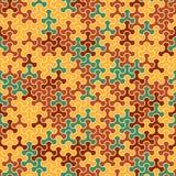 Vector o teste padrão sem emenda moderno do tessellation da geometria, abstrato Imagens de Stock