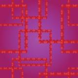 Vector o teste padrão sem emenda Quadrados das bolas vermelhas Fotos de Stock Royalty Free