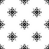 Vector o teste padrão sem emenda Repetição geométrica SE preto e branco Foto de Stock