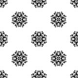 Vector o teste padrão sem emenda Repetição geométrica SE preto e branco Imagens de Stock