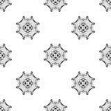 Vector o teste padrão sem emenda Repetição geométrica SE preto e branco Foto de Stock Royalty Free