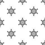 Vector o teste padrão sem emenda Repetição geométrica SE preto e branco Imagem de Stock Royalty Free