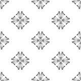 Vector o teste padrão sem emenda Repetição geométrica SE preto e branco Fotografia de Stock