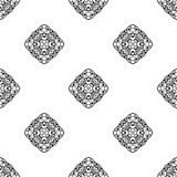 Vector o teste padrão sem emenda Repetição geométrica SE preto e branco Imagens de Stock Royalty Free