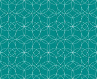 Vector o teste padrão sem emenda textura à moda moderna Repetindo telhas geométricas Círculos concêntricos Fotografia de Stock