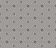 Vector o teste padrão sem emenda Textura abstrata à moda moderna Repetindo a telha geométrica dos elementos listrados Foto de Stock