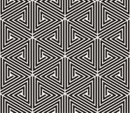 Vector o teste padrão sem emenda Textura abstrata à moda moderna Repetindo a telha geométrica dos elementos listrados Fotografia de Stock