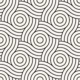 Vector o teste padrão sem emenda Textura abstrata à moda moderna Repetindo telhas geométricas ilustração royalty free