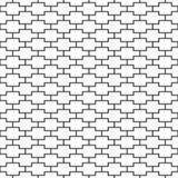 Vector o teste padrão sem emenda Textura geométrica Fundo preto e branco Linha monocromática projeto quadrado ilustração royalty free
