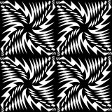 Vector o teste padrão sem emenda moderno da geometria, sumário preto e branco Fotografia de Stock Royalty Free