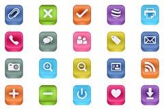 Vector o vetor 3 dos ícones inserir dos multimédios de 3d Quadrat Foto de Stock Royalty Free