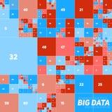Vector o visualização grande financeiro colorido abstrato do gráfico dos dados Projeto estético do infographics futurista dos blo Imagens de Stock Royalty Free