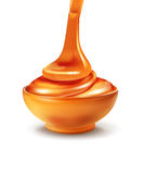 Vector object - a bowl is filled with honey Royalty Free Stock Photos