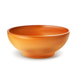 Vector object - an orange plate bowl () Stock Image