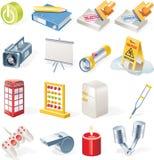 Vector objecten geplaatste pictogrammen. Deel 14 Stock Foto's