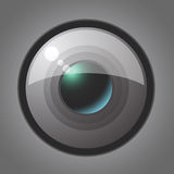 Vector objective lens Stock Photography