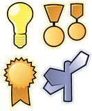 Vector objects of business symbols Royalty Free Stock Photos