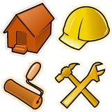 Vector objects for construction business Royalty Free Stock Image