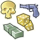 Vector objects for crime and danger Royalty Free Stock Image