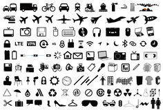 Vector objects icons pictograms Royalty Free Stock Photo