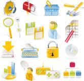 Vector objects icons set. Part 1. Set of colorful and bright icons Stock Image