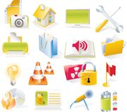 Vector objects icons set. Part 4 stock illustration