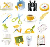 Vector objects icons set. Part 5 royalty free illustration