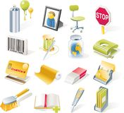 Vector objects icons set. Part 8 royalty free illustration