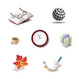 Vector Objects On A White Background Royalty Free Stock Photo